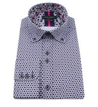 Load image into Gallery viewer, Guide London Circle Print Shirt Navy