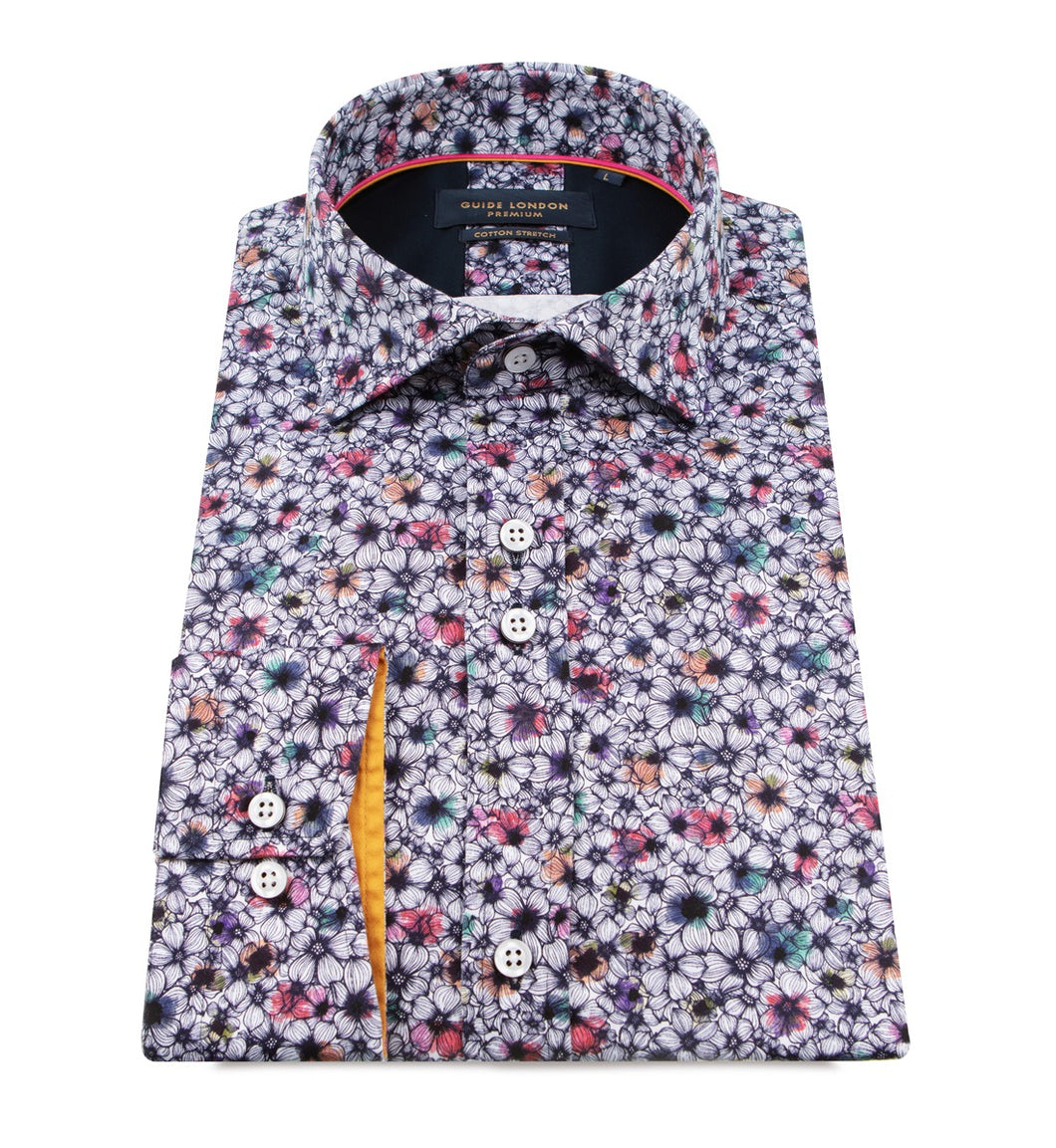 Guide London Multi Colour Floral Shirt