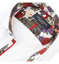 Load image into Gallery viewer, Guide London Plain White Shirt Floral Trim