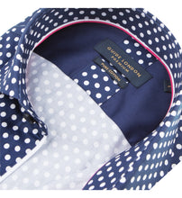 Load image into Gallery viewer, Guide London Polka Dot Shirt Navy White