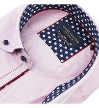 Load image into Gallery viewer, Guide London Plain Shirt with Polka Dot Trim Pink