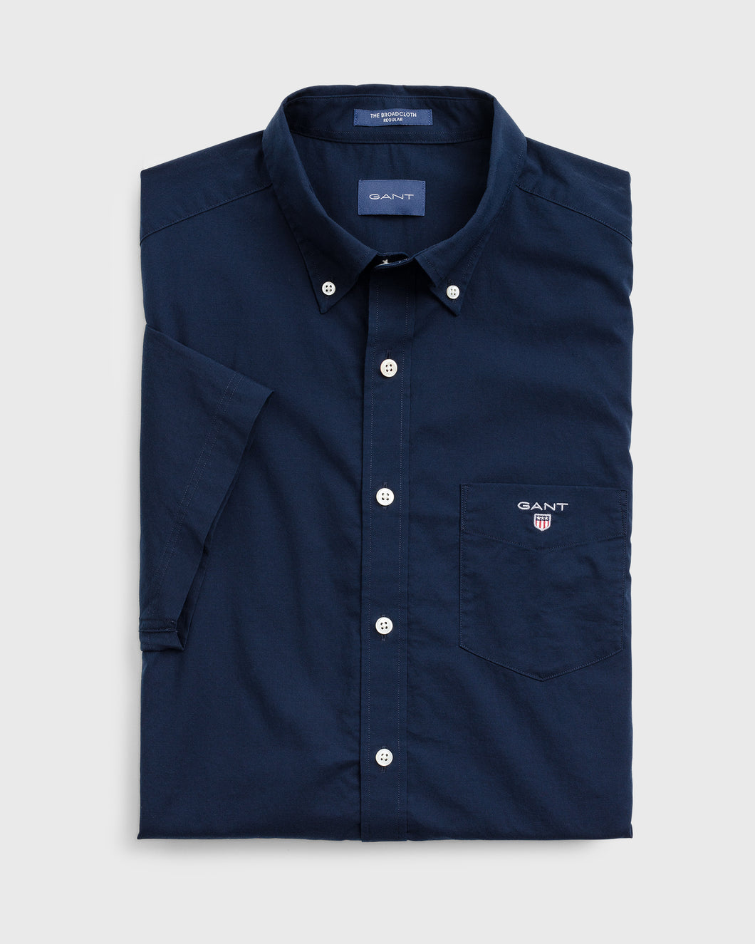 Gant The Broadcloth Short Sleeve Shirt Navy