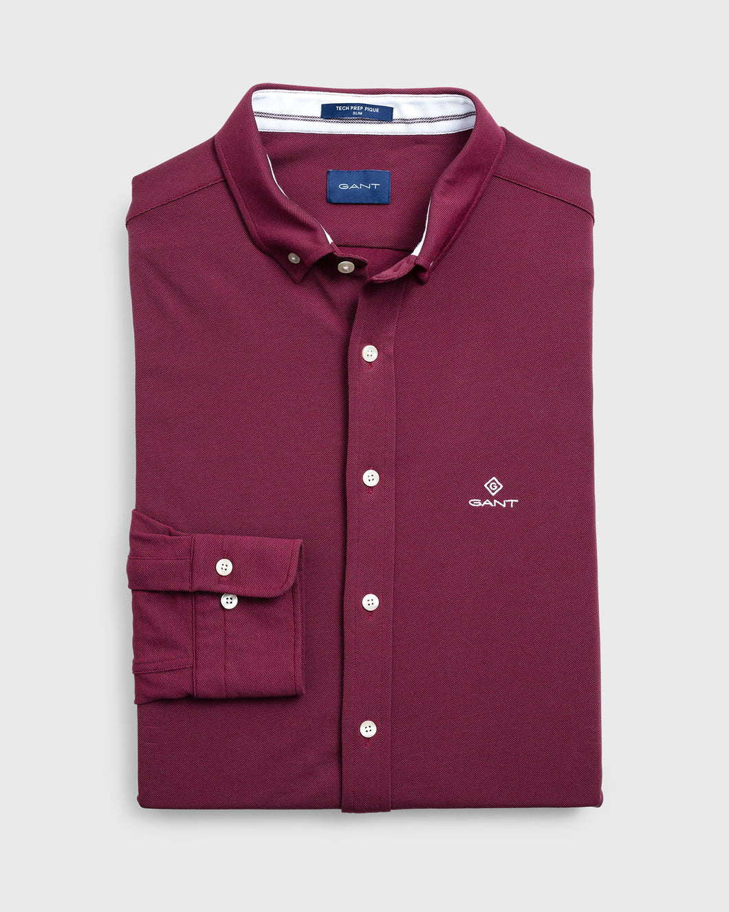 Gant Tech Prep Pique Shirt Port Red