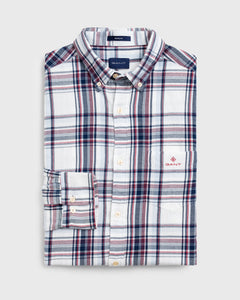 Gant Flannel Check Shirt White