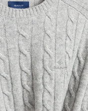 Load image into Gallery viewer, Gant Cable Knit Lambswool Jumper Grey Marl