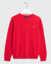 Load image into Gallery viewer, Gant Crew Neck Lambswool Jumper Red
