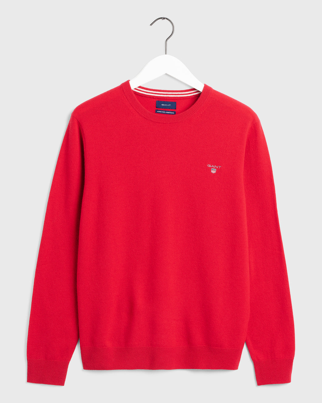Gant Crew Neck Lambswool Jumper Red