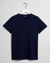 Load image into Gallery viewer, Gant Pique T-Shirt Navy