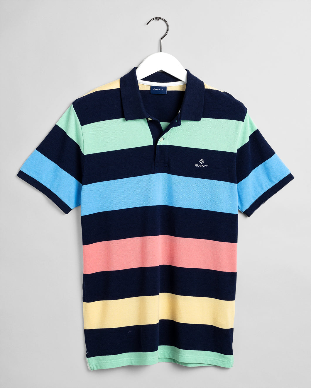 Gant Barstripe Pique Polo T-Shirt Multicolour