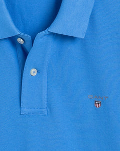 Gant Original Heavy Pique Polo T-Shirt Pacific Blue