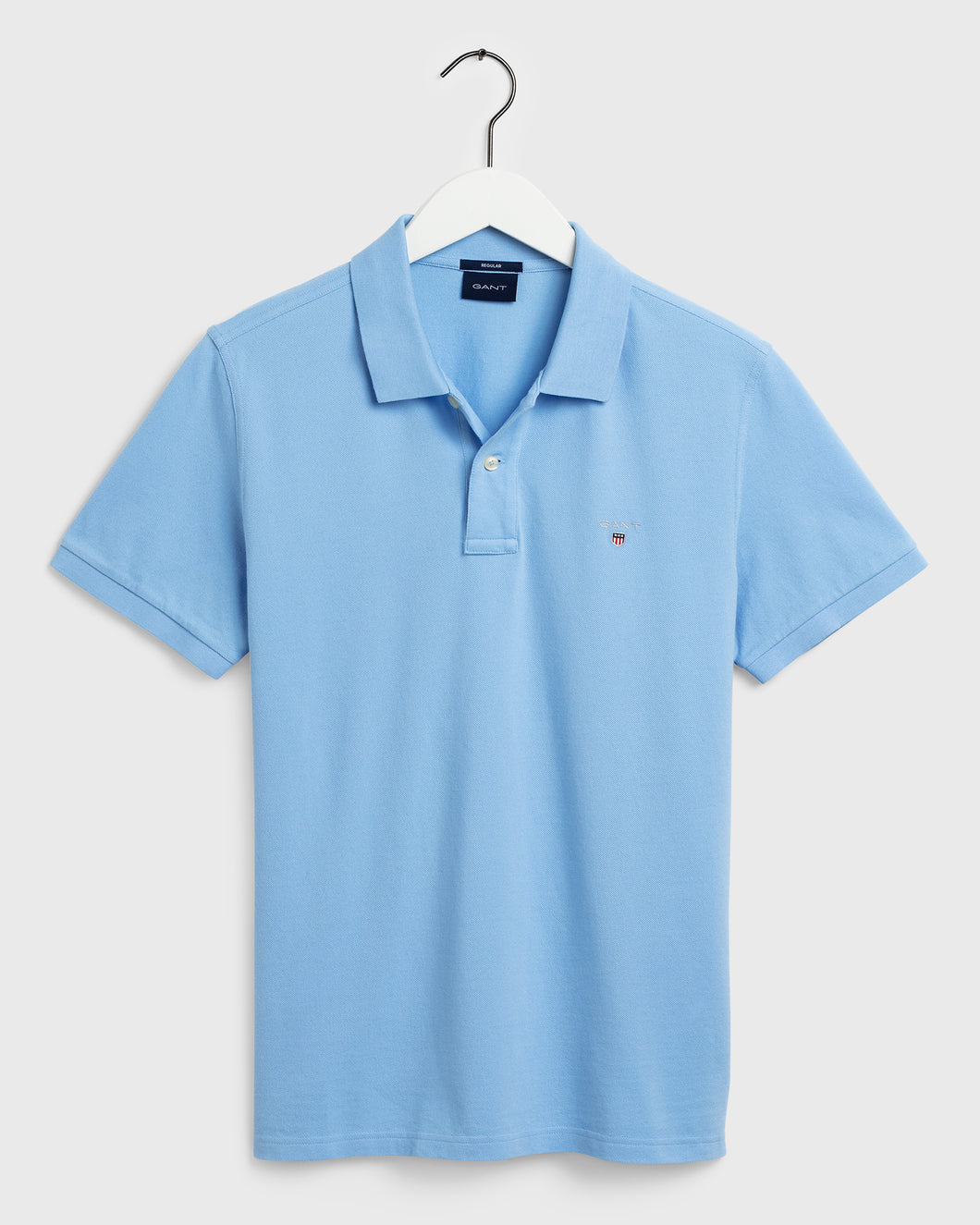 Gant Original Pique Short Sleeve Rugger Capri Blue