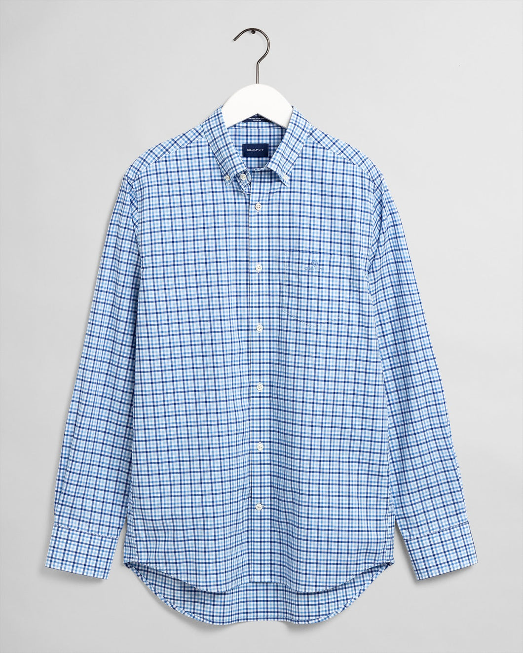 Gant Broadcloth Gingham Shirt Blue