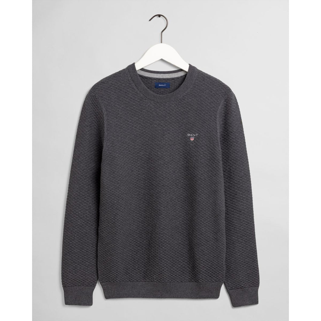 Gant Triangle Texture Jumper Grey