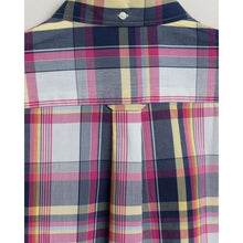 Load image into Gallery viewer, Gant Indigo Plaid Short Sleeve Shirt Pink