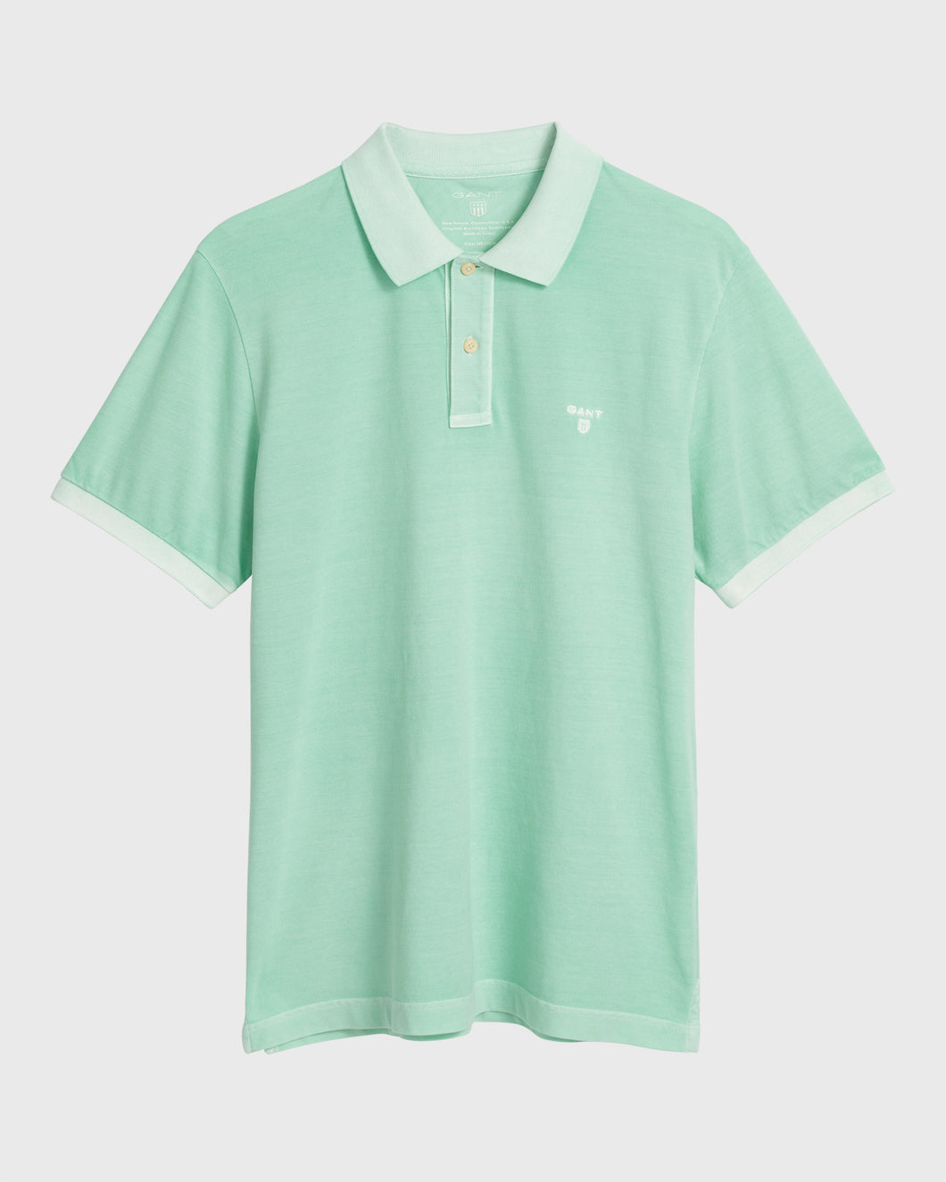 Gant Sunbleached Polo T-Shirt Bay Green