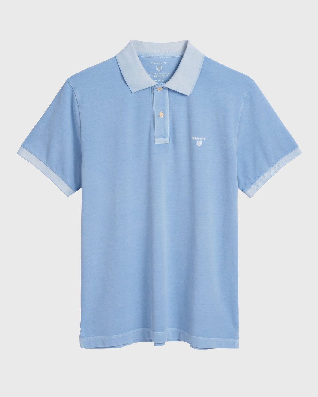 Gant Sunbleached Polo T-Shirt Capri Blue