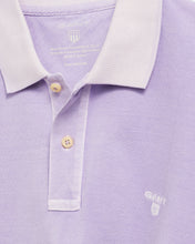 Load image into Gallery viewer, Gant Sunbleached Polo T-Shirt Violet