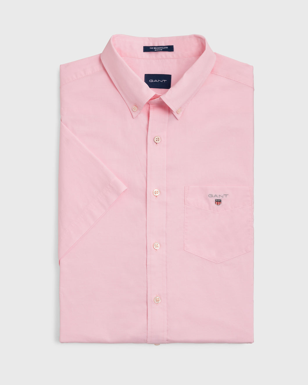 Gant The Broadcloth Short Sleeve Shirt Rose