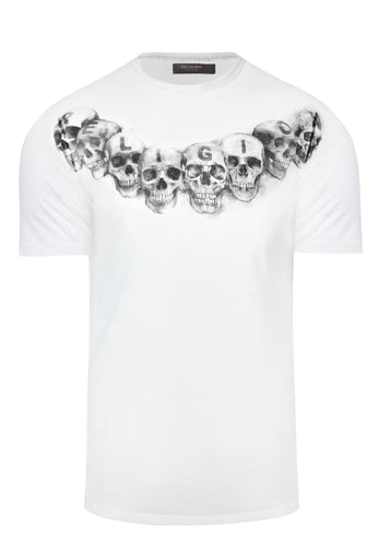 Religion Necklace T Shirt White