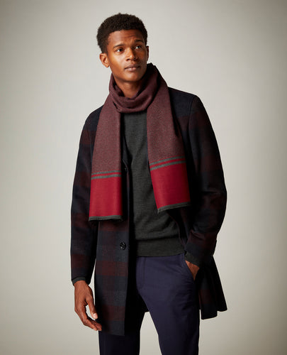 Remus Uomo Dress Scarf Charcoal