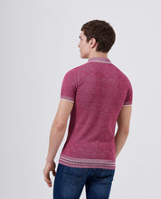 Load image into Gallery viewer, Remus Uomo Fine Knit Polo Top Pink
