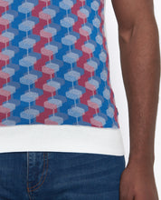 Load image into Gallery viewer, Remus Uomo Geometric Fine Knit Polo Top White