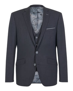 Remus Uomo Palucci Jacket Grey Mini Check