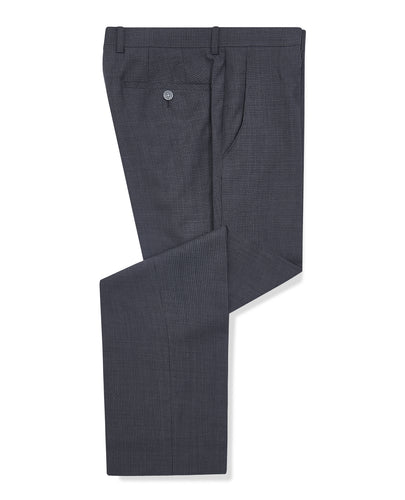 Remus Uomo Palucci Mini Check Trouser Grey
