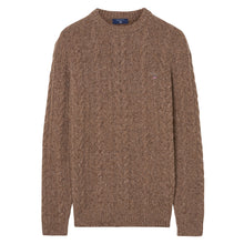 Load image into Gallery viewer, Gant Donegal Cable Knit Jumper Sand Melange