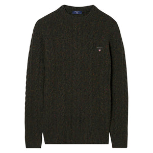 Gant Donegal Cable Knit Jumper Olive