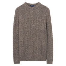 Load image into Gallery viewer, Gant Donegal Cable Knit Jumper Grey Melange