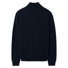 Load image into Gallery viewer, Gant Superfine Lambswool Zip Cardigan Navy