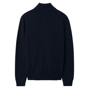Gant Superfine Lambswool Zip Cardigan Navy