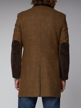 Load image into Gallery viewer, Gibson London Checked Wool Coat Tan and Brown