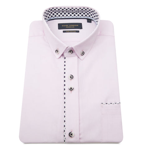 Guide London Polka Dot Trim Shirt Pink