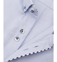 Load image into Gallery viewer, Guide London Polka Dot Trim Shirt Sky