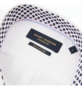 Guide London Polka Dot Trim Shirt White
