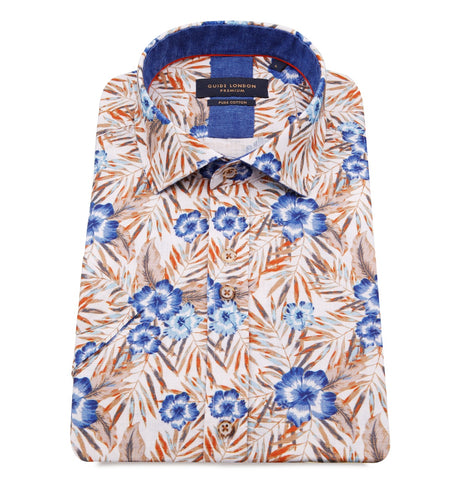 Guide London Printed Short Sleeve Shirt