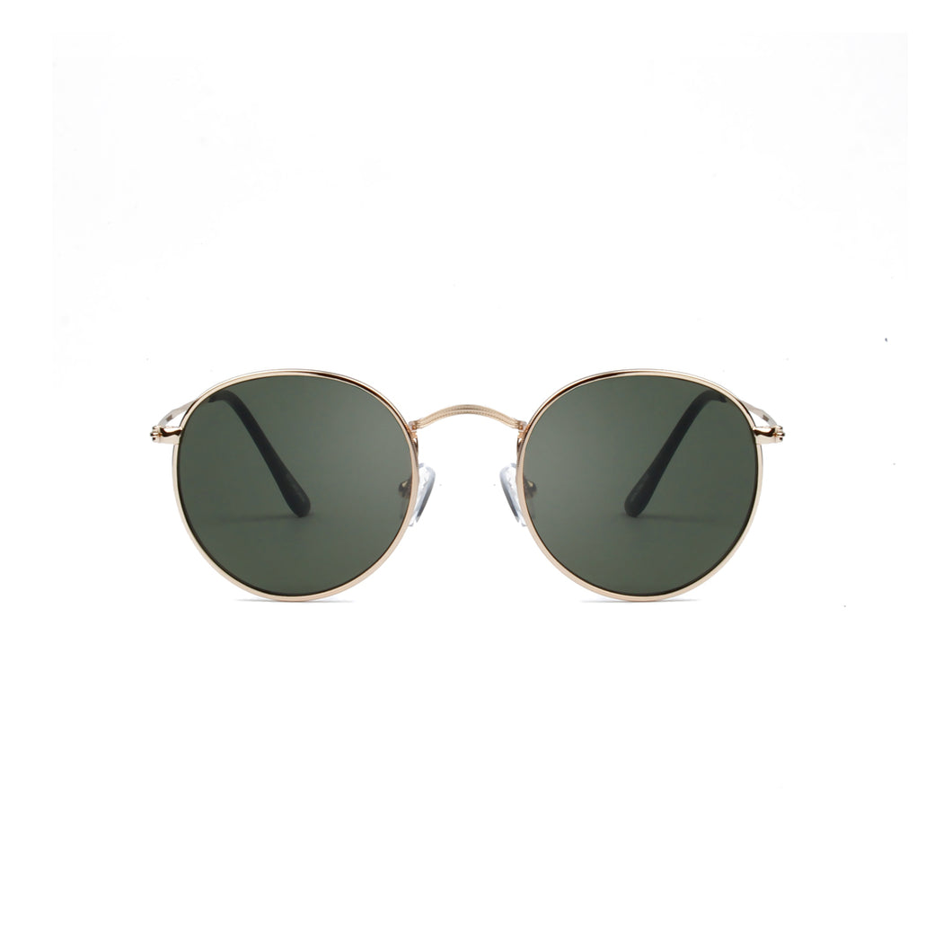 A Kjaerbede Hello Sunglasses Gold Green