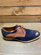 Load image into Gallery viewer, Lacuzzo Derby Suede Shoe Navy