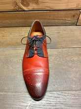 Load image into Gallery viewer, Lacuzzo Brogue Detail Shoe Red with Black