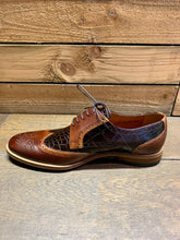 Load image into Gallery viewer, Lacuzzo Croc Texture Brogue Shoes Brown