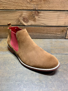Lacuzzo Suede Ankle Boots Tan