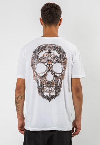 Religion Jewellery Skull T-Shirt White