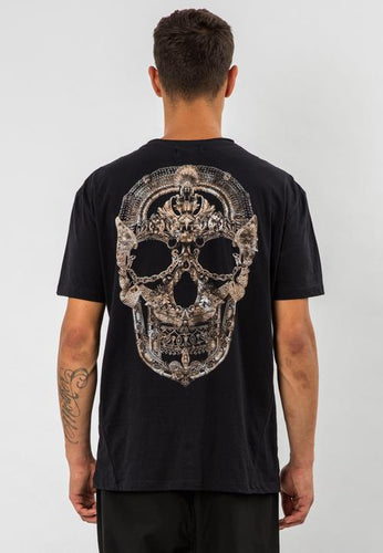 Religion Jewellery Skull T-Shirt Black