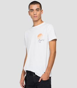 Replay Tiger Print T-Shirt White