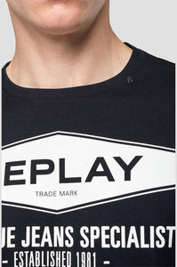 Replay The Blue Jeans Specialist T-Shirt Black