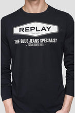 Load image into Gallery viewer, Replay The Blue Jeans Specialist T-Shirt Black