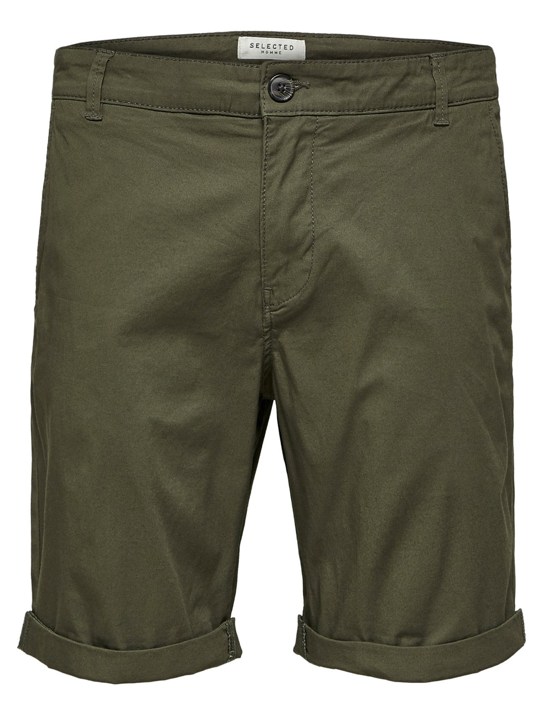 Selected Homme Paris Chino Shorts Olive