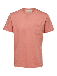 Selected Homme Jared T-Shirt Lobster